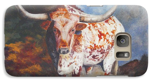 Galaxy Case featuring the painting Lone Star Longhorn by Karen Kennedy Chatham
