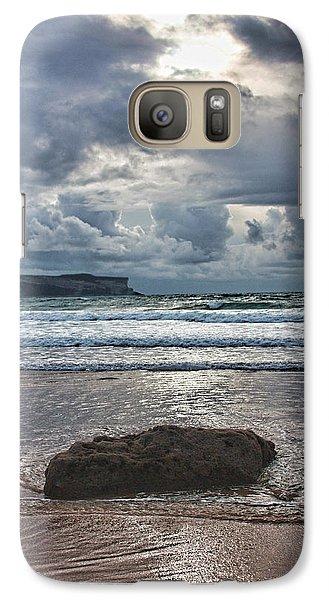 Galaxy Case featuring the photograph Lone Stone by Angel Jesus De la Fuente