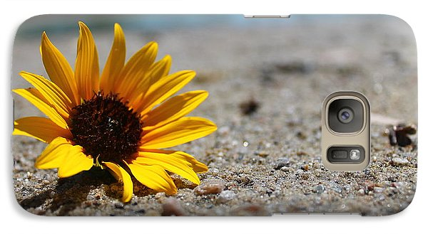 Galaxy Case featuring the photograph Lone Sunflower by Alicia Knust