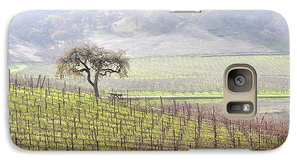 Galaxy Case featuring the photograph Lone Tree In The Vineyard by AJ  Schibig