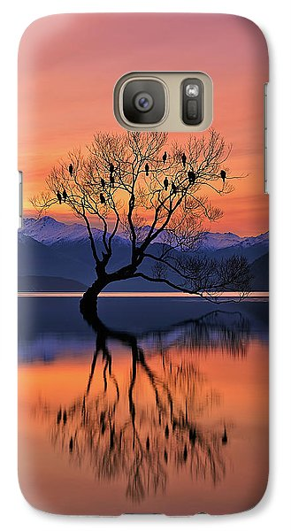 Colours Galaxy S7 Case - Lone Tree Is Not Lonely by Mei Xu