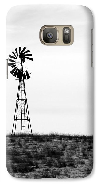 Galaxy Case featuring the photograph Lone Windmill by Cathy Anderson