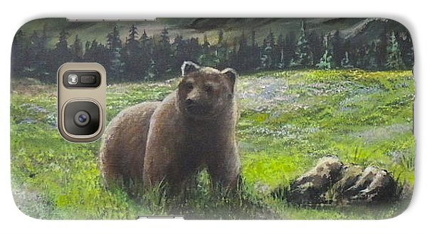 Galaxy Case featuring the painting Lonely Bear by Bozena Zajaczkowska