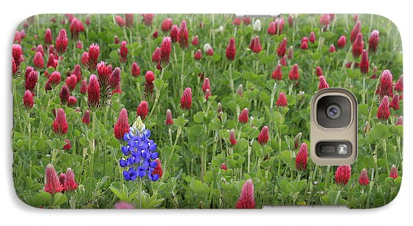Galaxy Case featuring the photograph Lonely Bluebonnet by Jerry Bunger