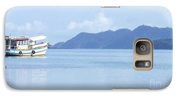 Galaxy Case featuring the photograph Lonely Boat by Andrea Anderegg