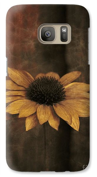 Galaxy Case featuring the photograph Lonely Coneflower by Marjorie Imbeau