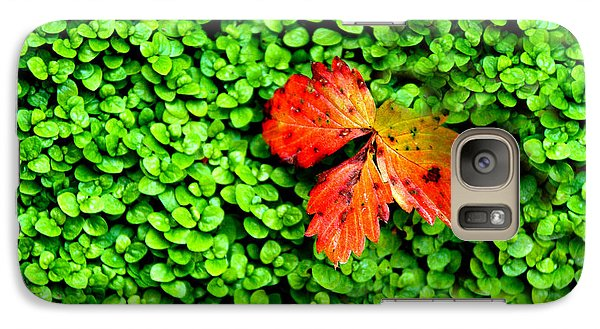 Galaxy Case featuring the photograph Lonely Leaf by Charlie and Norma Brock