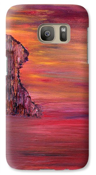 Galaxy Case featuring the painting Lonely Rock by Vadim Levin