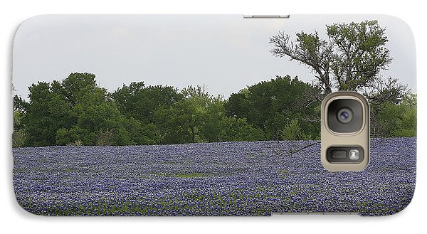 Galaxy Case featuring the photograph Lonely Tree In Bluebonnets by Jerry Bunger