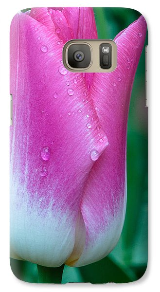Galaxy Case featuring the photograph Lonely Tulip by Sergey Simanovsky