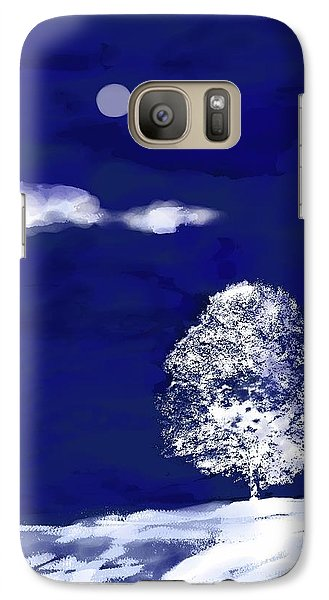 Galaxy Case featuring the digital art Lonely Winter Tree by Mary Armstrong