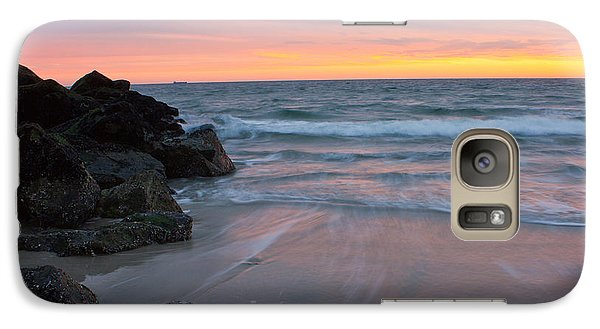 Galaxy Case featuring the photograph Long Beach By The Rocks by Jose Oquendo