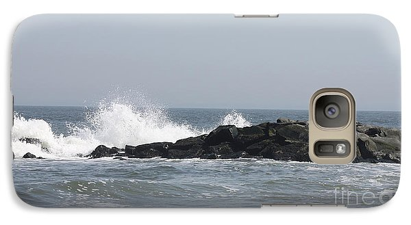 Galaxy Case featuring the photograph Long Beach Jetty by John Telfer