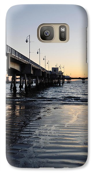 Galaxy Case featuring the photograph Long Beach Pier by Kyle Hanson