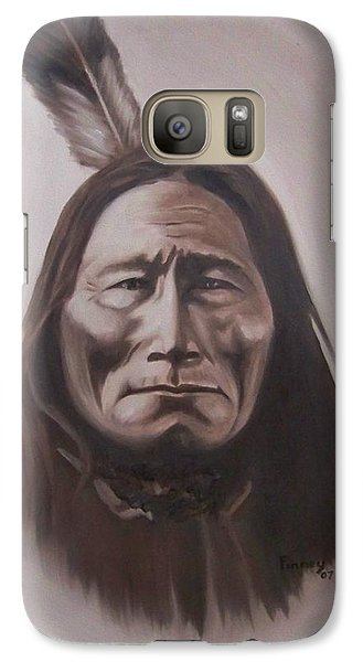 Galaxy Case featuring the painting Long Bear by Michael  TMAD Finney