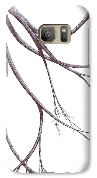 Galaxy Case featuring the drawing Long Branches by Giuseppe Epifani