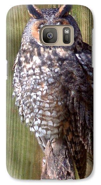 Galaxy Case featuring the photograph Long Eared Owl by Joseph Skompski