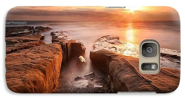 Galaxy S7 Case - Long Exposure Sunset At A Rocky Reef In by Larry Marshall