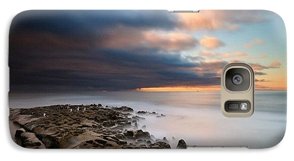 Galaxy S7 Case - Long Exposure Sunset Of An Incoming by Larry Marshall