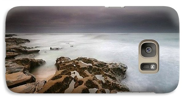 Galaxy S7 Case - Long Exposure Sunset On A Dark Stormy by Larry Marshall