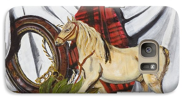 Galaxy Case featuring the painting Long May He Ride by Susan Culver