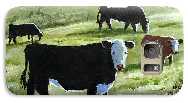 Galaxy Case featuring the painting Long Shadows by Carol Hart