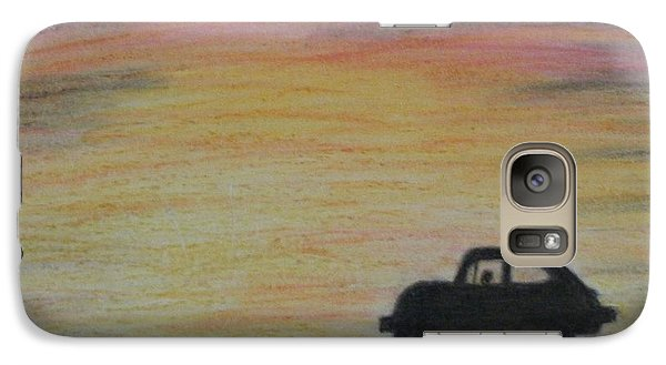 Galaxy Case featuring the drawing Long Strange Trip by Thomasina Durkay