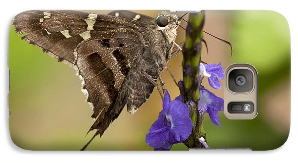Galaxy Case featuring the photograph Long-tailed Skipper Photo by Meg Rousher
