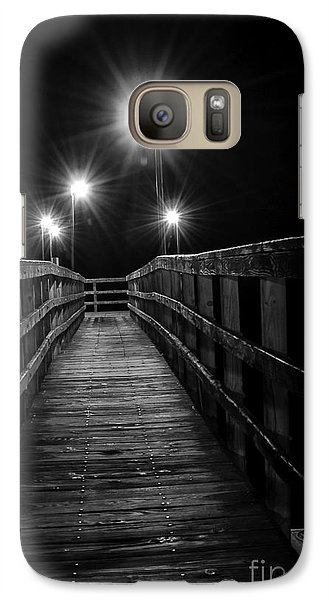 Galaxy Case featuring the photograph Long Walk On A Short Pier by Terry Garvin