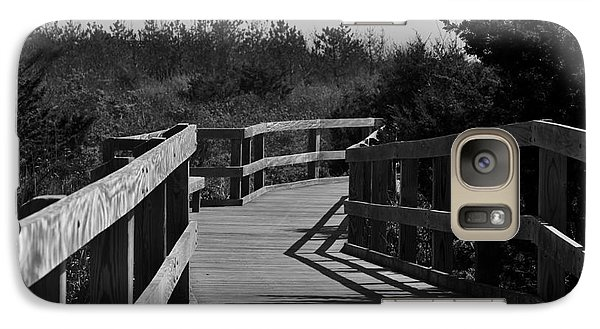 Galaxy Case featuring the photograph Long Walk by Roseann Errigo