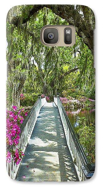 Long White Bridge Galaxy S7 Case by Bill Barber