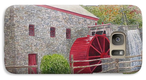 Galaxy Case featuring the painting Longfellow's Gristmill by Carol Flagg