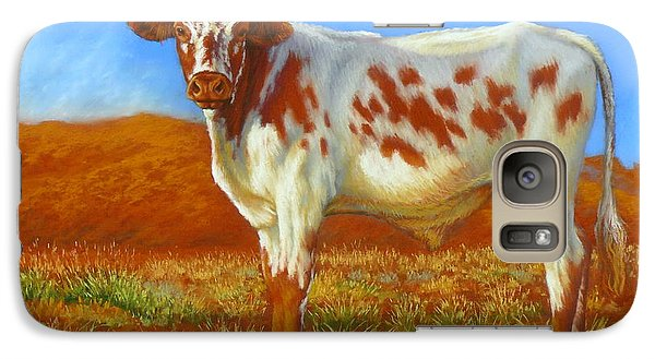 Galaxy Case featuring the painting Longhorn In The Australian Outback by Margaret Stockdale