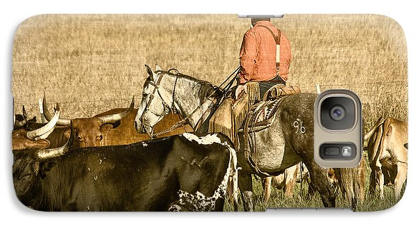 Galaxy Case featuring the photograph Longhorn Round Up by Steven Bateson