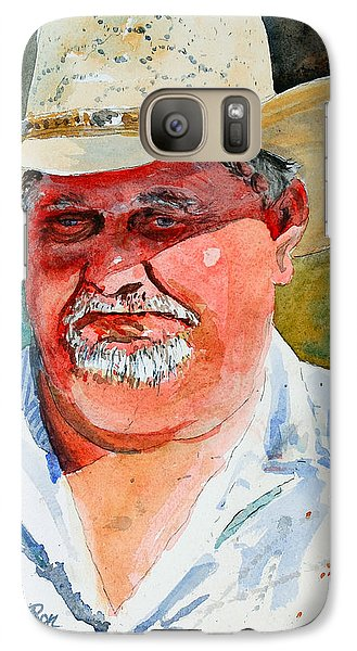 Galaxy Case featuring the painting Longhorn Wrangler by Ron Stephens