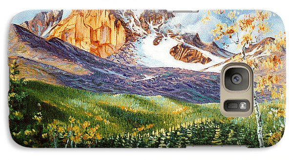 Galaxy Case featuring the painting Longs Shadows by Craig T Burgwardt