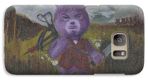 Galaxy Case featuring the painting Look At The Flowers Daryl by Jessmyne Stephenson