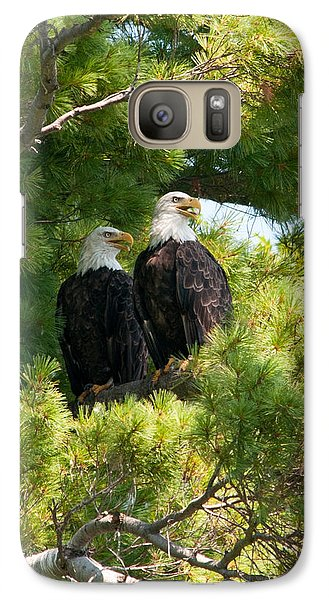 Galaxy Case featuring the photograph Look Over There by Brenda Jacobs