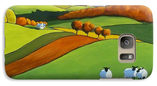 Galaxy Case featuring the painting Looking At Ewe by Jo Appleby