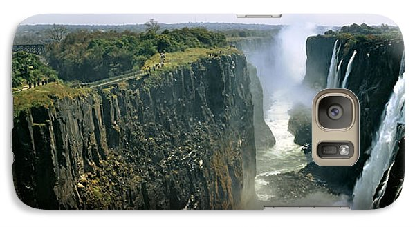Looking Down The Victoria Falls Gorge Galaxy Case by Panoramic Images