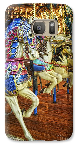 Galaxy Case featuring the photograph Dancing Horses by Debra Fedchin