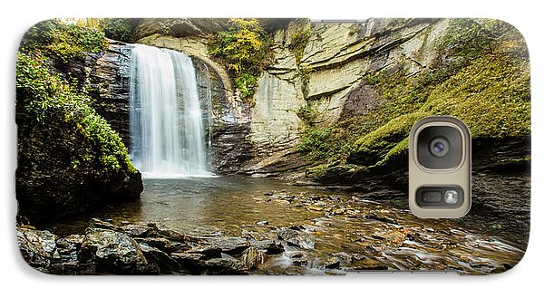 Galaxy Case featuring the photograph Looking Glass Falls by Cathy Donohoue
