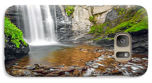 Galaxy Case featuring the photograph Looking Glass Falls by Marion Johnson