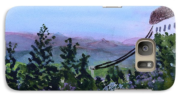 Galaxy Case featuring the painting Looking Out From Top Of Jay Peak  by Donna Walsh