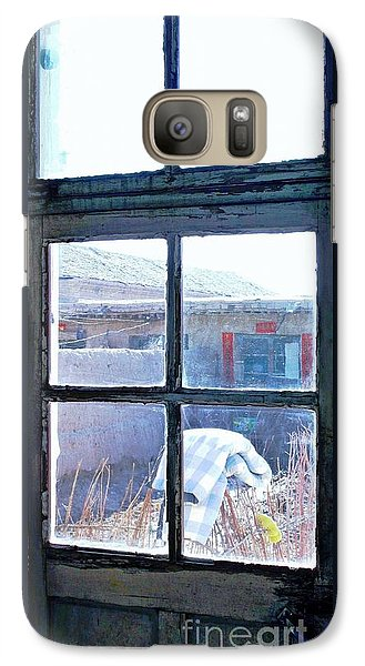 Galaxy Case featuring the photograph Looking Out The Kitchen Door In February by Ethna Gillespie