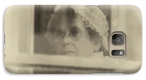 Galaxy Case featuring the photograph Looking Out Through The Window by Terry Rowe