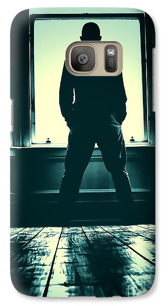Galaxy Case featuring the photograph Looking Out Window by Craig B