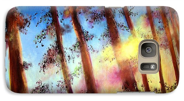 Galaxy Case featuring the painting Looking Through The Trees by Alison Caltrider