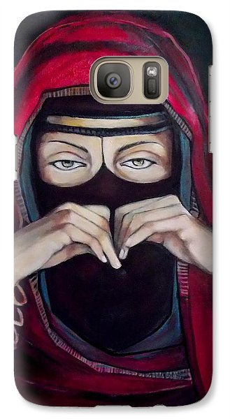 Galaxy Case featuring the painting Looking Through Niqab by Irena Mohr