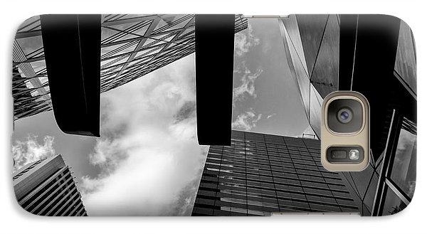 Galaxy Case featuring the photograph Looking Up In Downtown Tokyo by Dean Harte